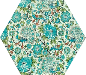 Blue-Green Floral