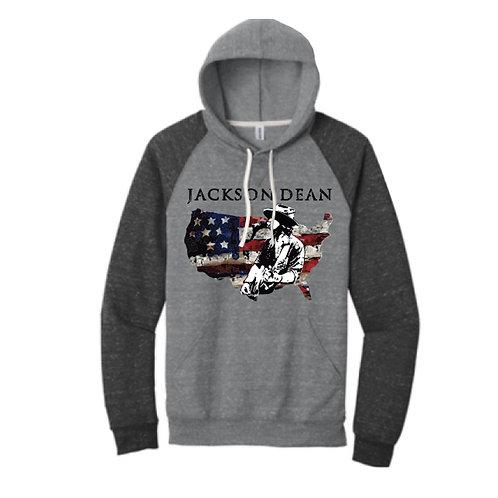Jackson Dean Sweatshirt Hoodie -Charcoal & Black Sleeves