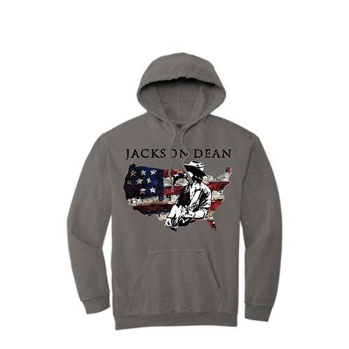 Jackson Dean Hooded Sweatshirt - Grey