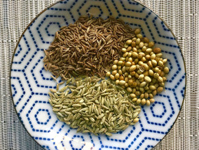 Cumin coriander fennel tea