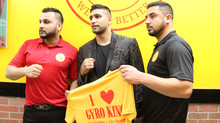 Amir Khan Visits Gyro King