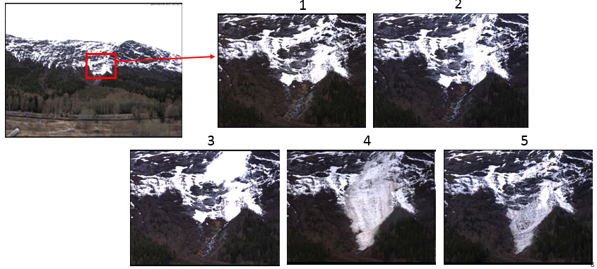 Optical images of the avalanches