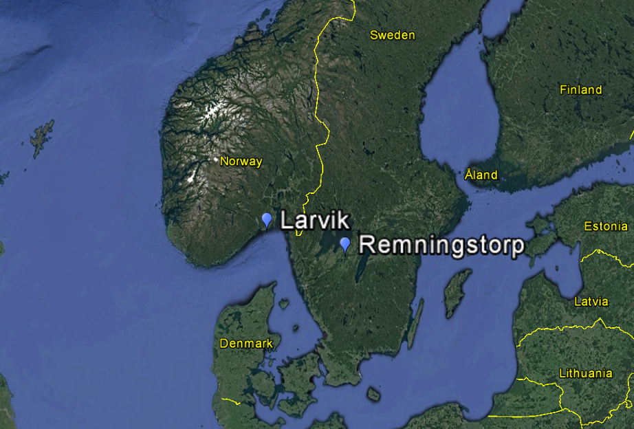 Location of the measurements sites