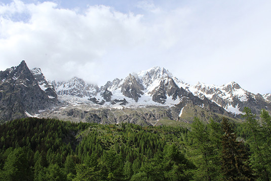 The Planpincieux glacier in the the Aosta Valley (Italy)