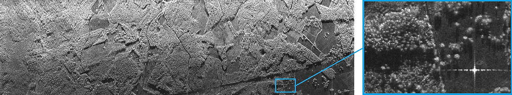 C-band SAR image acquired during the campaign