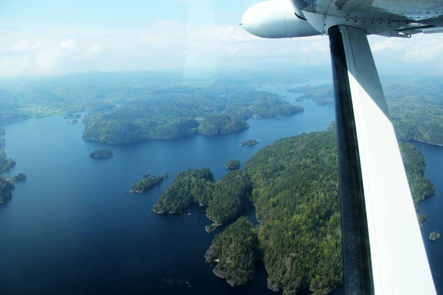 Airborne picture over Norway