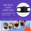 Face Mask - Large, Medium