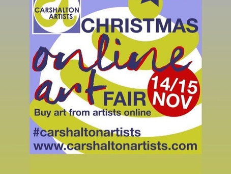 Carshalton Artists Christmas Online Art Fair: 14-15th Nov, 2020