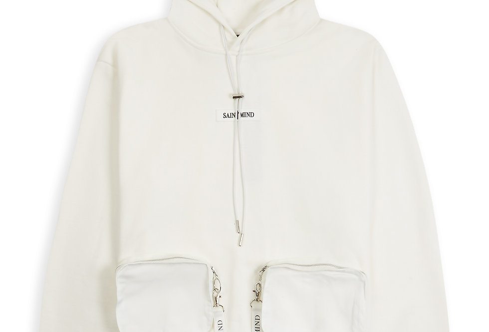 UTILITY HOODIE - OFF WHITE
