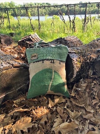 Coffee Purse Green Vegan Leather