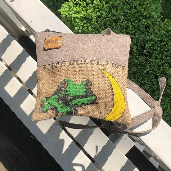Frog Coffee Espresso Beige Vegan Leather
