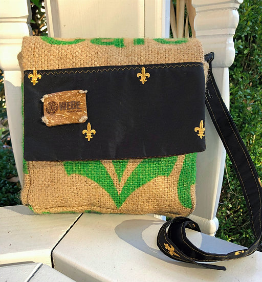 Square Crossbody Black Cornstalk