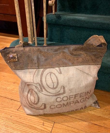 Coffee Weekender Flowery Vegan Leather