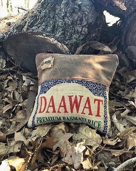 Basmati Daawat Purse Flowery Brown Vegan Leather