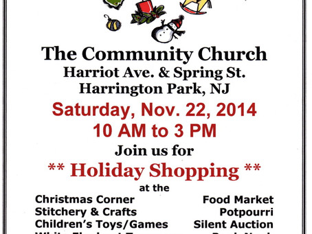 WeBe Bags will be at the Harrington Park Community Church Bazaar!