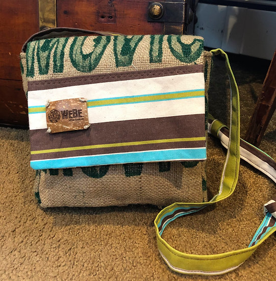 Square Crossbody Brown Green Terrace