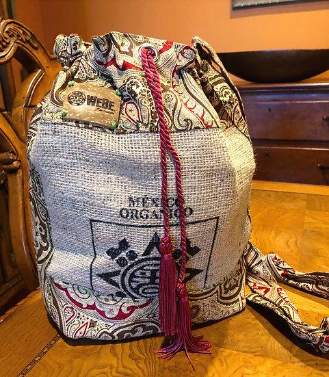 Coffee Drawstring Paisley