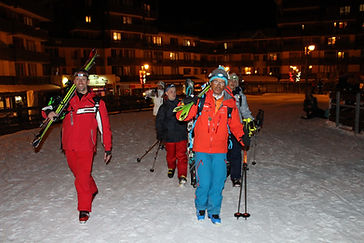 Ski Touring by night in Valfrejus