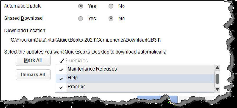quickbooks automatic updates