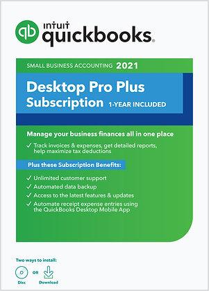 QuickBooks Desktop Pro Plus 2021 Accounting Software - PC Download + CD