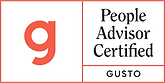 Gusto People Advisor Certified Badge