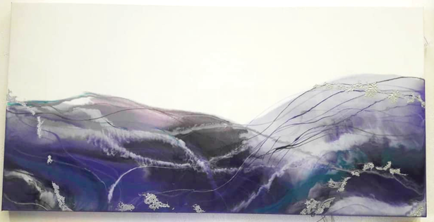 "24 x 36"" Purple Resin (SOLD)"