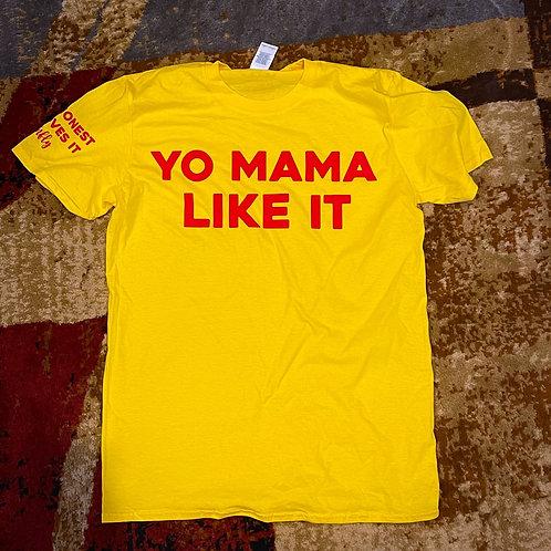 Yo mama like it tee Yellow/Red