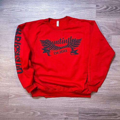 Ribbon & Wings Crewneck Sweatshirt (RED)
