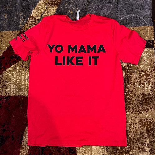 Yo mama like it tee Red/Black