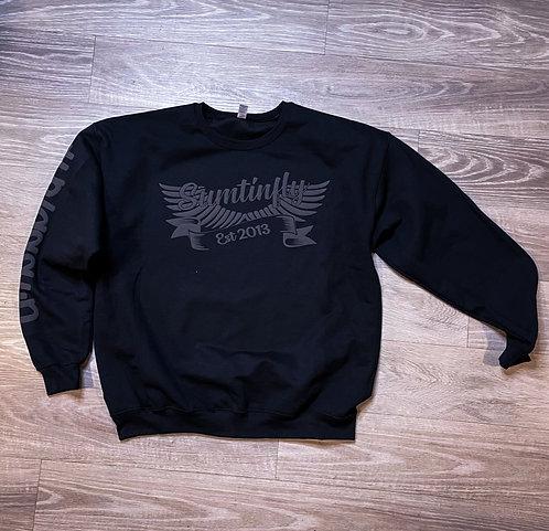 Ribbon & Wings Crewneck Sweatshirt (Black/Grey)