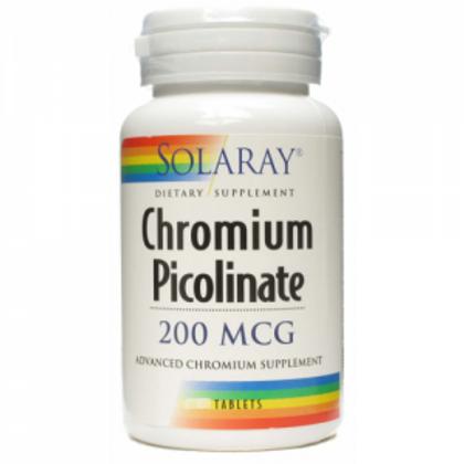 Picolinato de Cromo · Solaray · 50 comprimidos