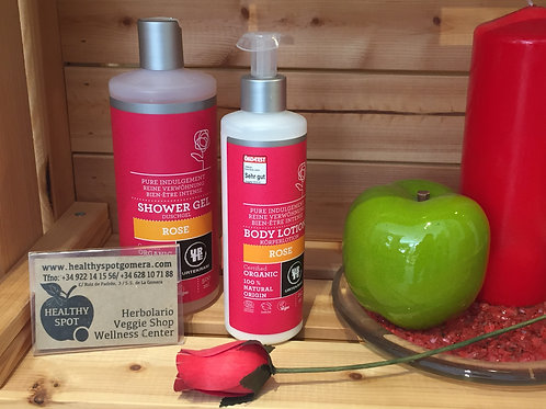 Pack Shower Gel y Body Lotion de Rosa Urtekram