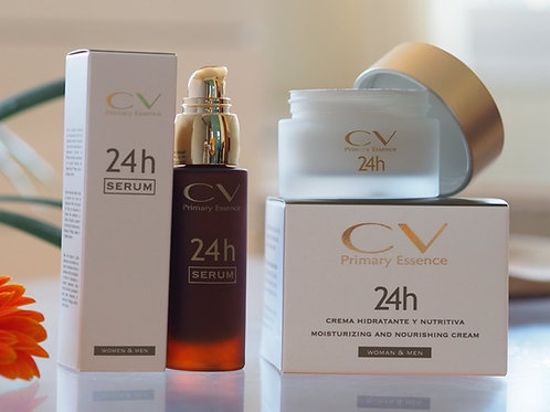 Pack de Tratamiento 24H CV - Serum + Crema Hidratante