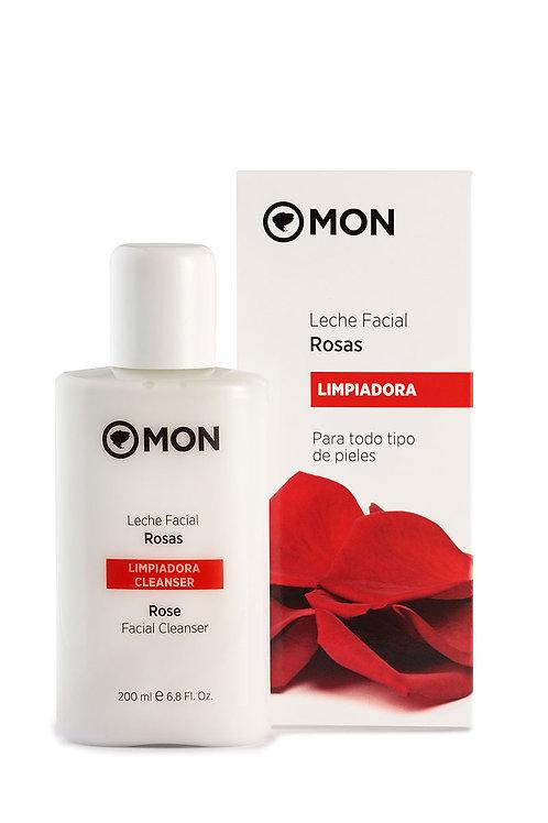 Leche Limpiadora Facial de Rosas MON 200ml.