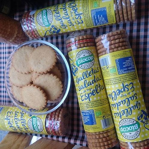 Galletas Saladas de Espelta Biocop