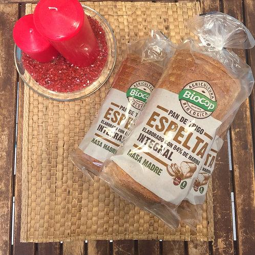 Pan de Molde de Espelta Integral con Masa Madre