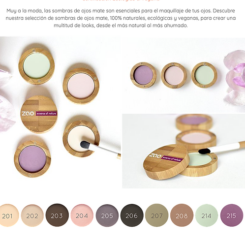 Sombras Mate Zao Makeup