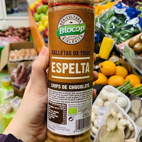 Galletas de Espelta con Chocolate Chips Biocop