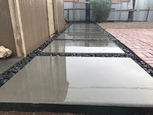 Concrete work with Smooth Mexican Pebbles