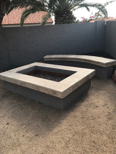 Travertine Wood Burning Firepit