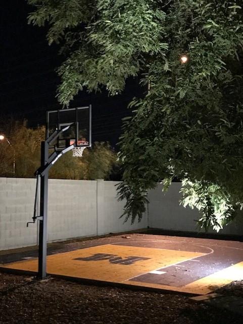 Basketball Court and Lighting
