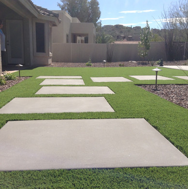 Concrete Pat with Turf