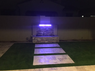 Multi-Color Lighting For Waterfeature