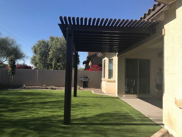 Alumawood Pergola and Turf