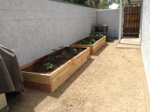 Custom Built Wood Garden Planters