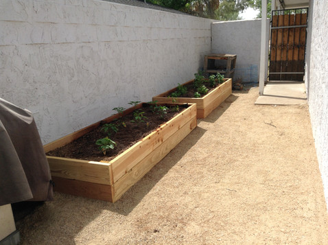 Custom Built Wood Garden Planters