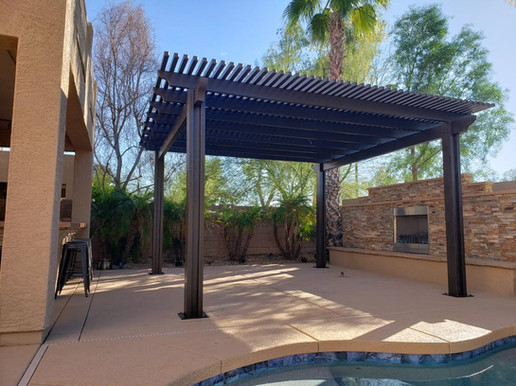 Pergola with Feature Wall