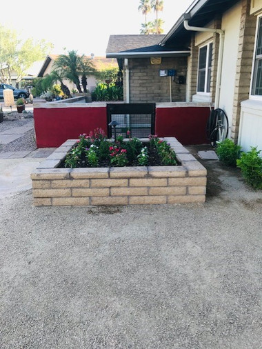 Custom Built Planter and Seating