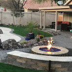 Firepit and Seat Wall