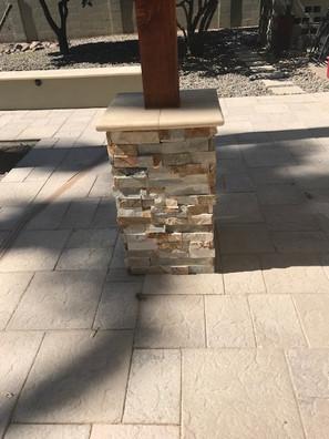 Pillars with Stone